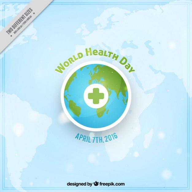 Earth background of World Health Day
