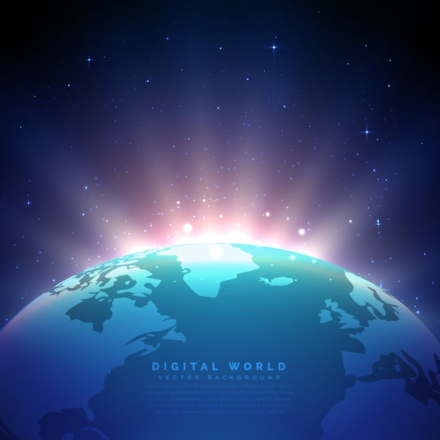 3d world map vectors photos and psd files free download earth background with glowing light vector gumiabroncs Gallery