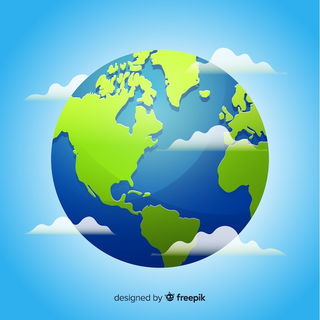 Earth background Free Vector