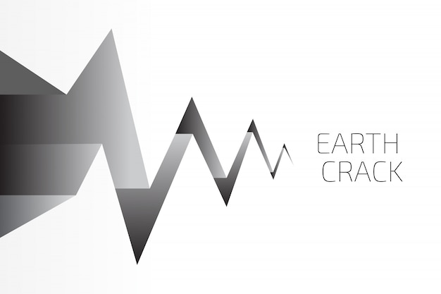 Earth crack background Premium Vector