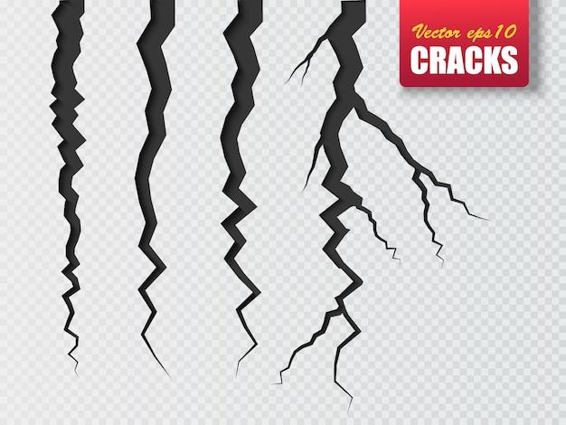 Earth cracks isolated on white Premium Vector