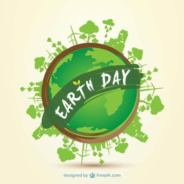 earth day 2014 clip art vector vector free download rh freepik com National Day Calendar 2018 free clipart earth day april 22