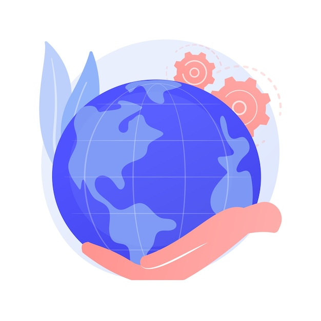 Earth day abstract concept Free Vector