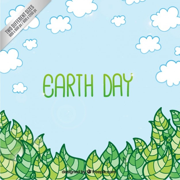Earth day background Free Vector