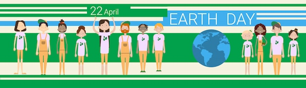 Earth day banner Premium Vector