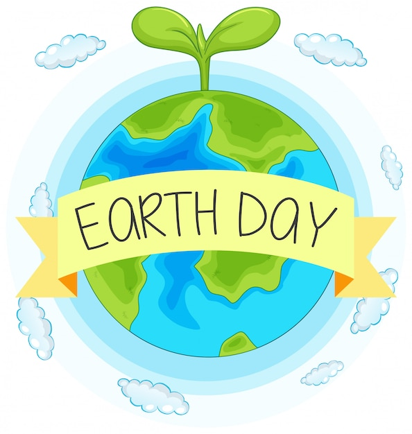 Earth day concept hand drawn illustration Free Vector