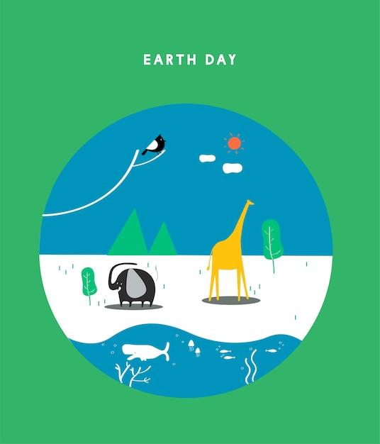 Иллюстрация концепции дня земли Бесплатные векторы