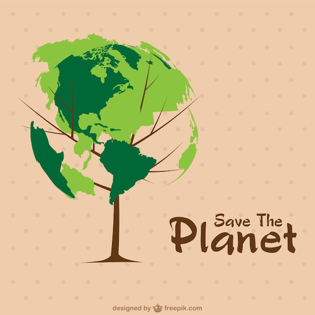 Earth Day concept image Free Vector