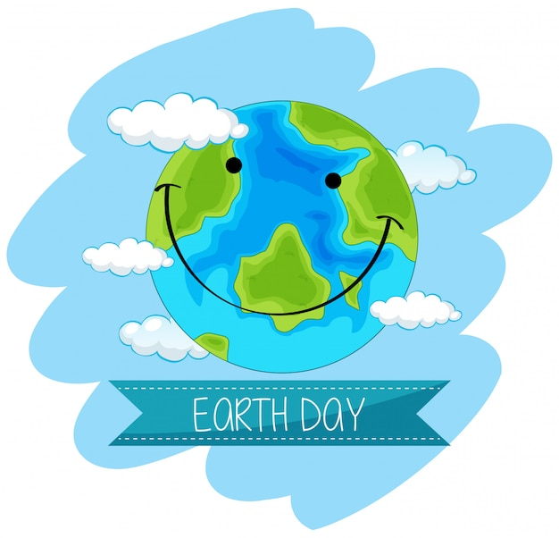 Earth day concept poster | Free Vector