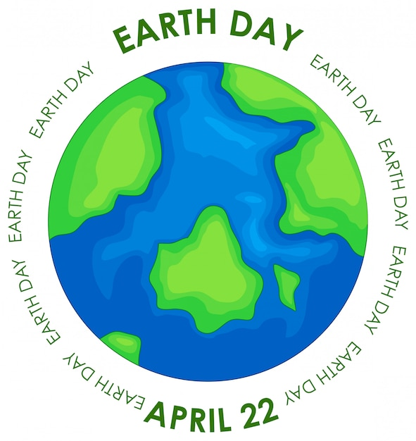 Earth day concept poster Free Vector