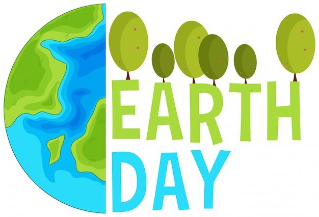 Earth day concept scene Free Vector