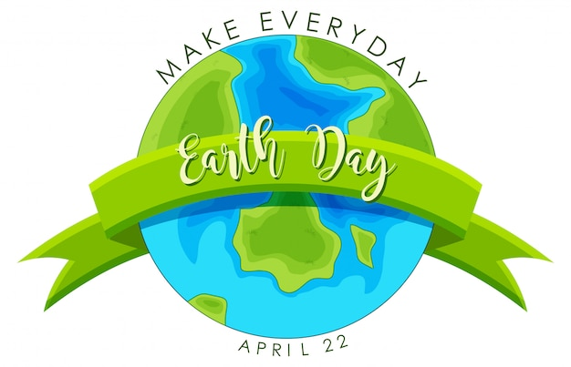 Earth day concept Free Vector