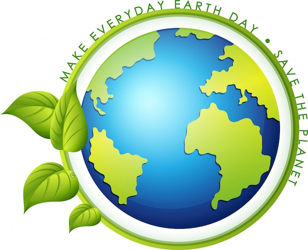 An earth day icon Free Vector