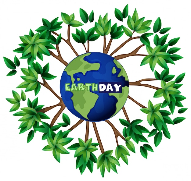 An earth day illustration Free Vector