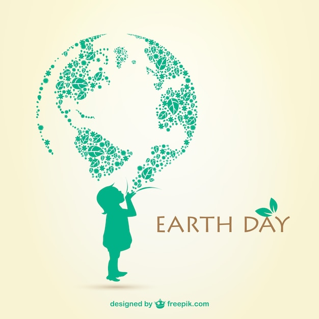 Earth Day Illustration Vector Free Download