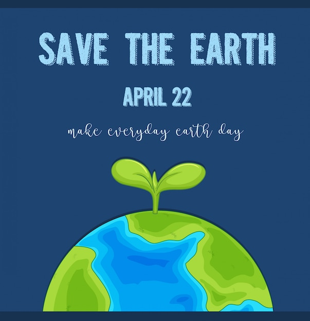 An earth day logo Free Vector
