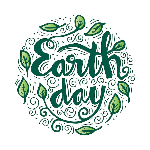 Earth day poster. vector illustration with the earth day Premium Vector