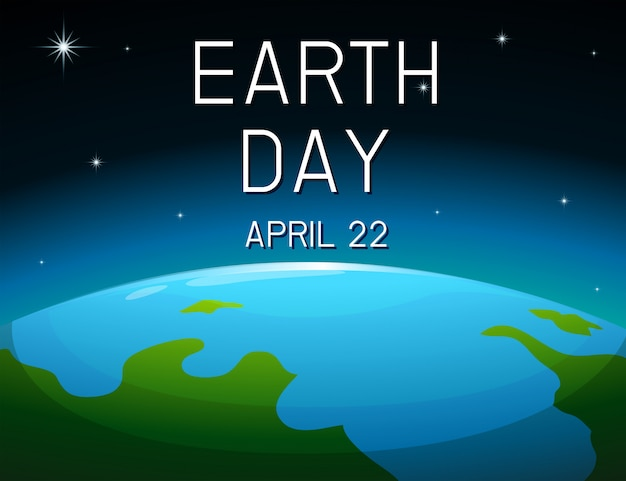 Earth day space poster Free Vector