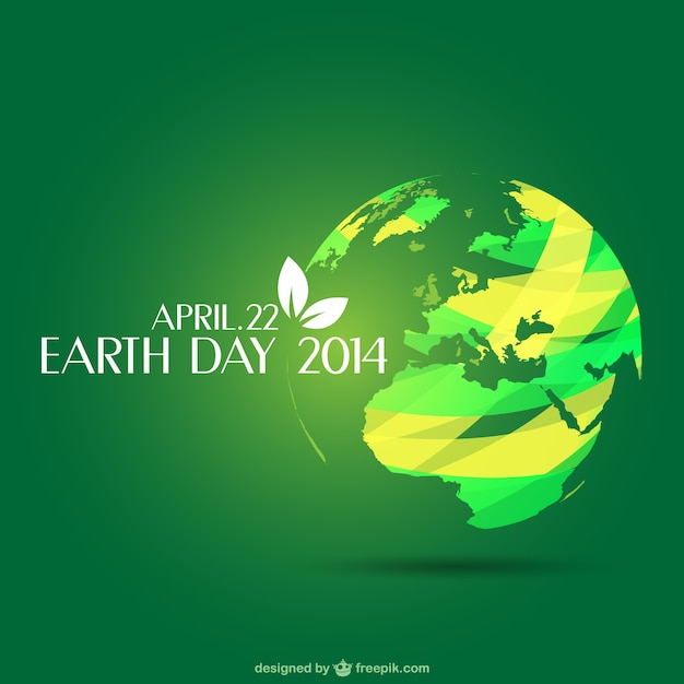 Earth day template Vector | Free Download