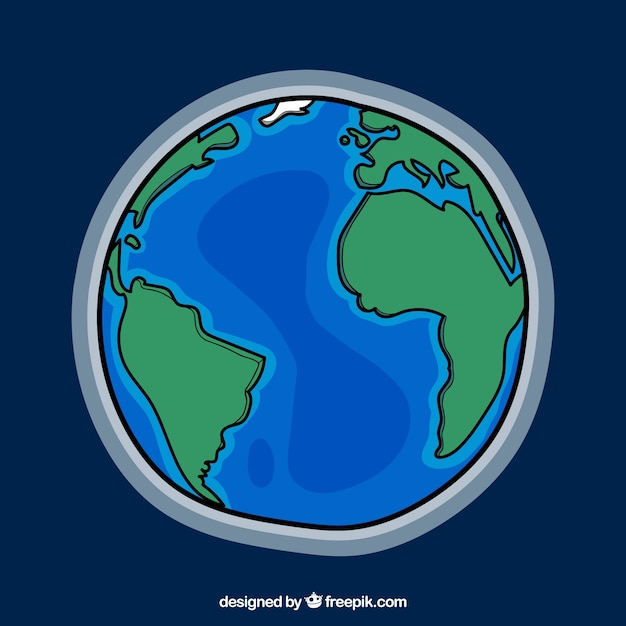 Earth vectors photos and psd files free download earth globe background sciox Image collections