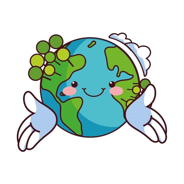地球は自然保護に満足 Premiumベクター