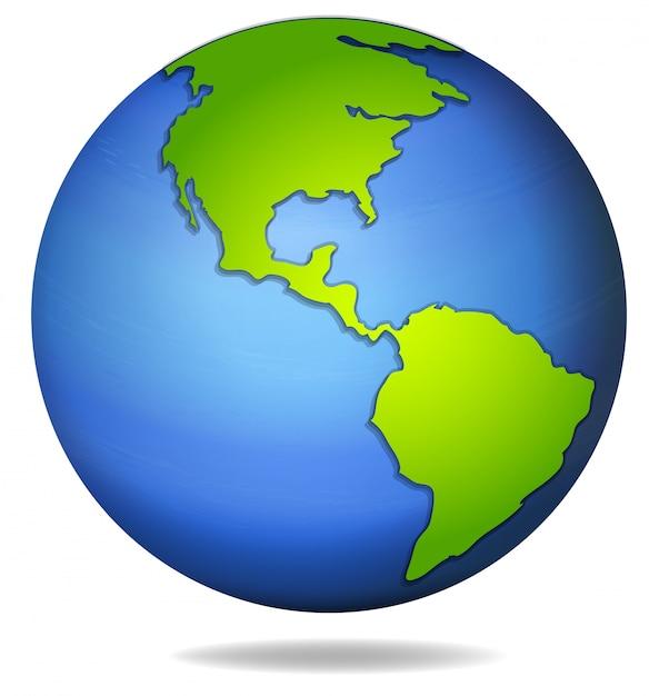 Earth globe illustration Free Vector