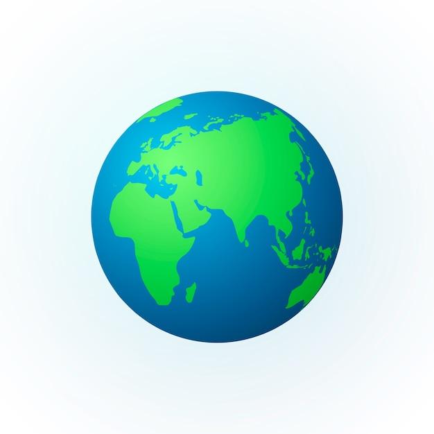 Земля в виде шара Premium векторы