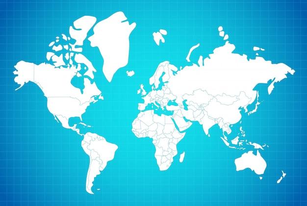 Mappa della terra composizione lineare Vettore gratuito