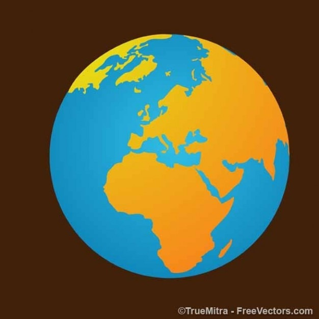 Earth Map On Brown Background Vector Free Download - Eart map