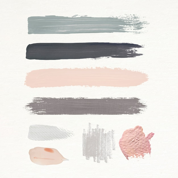 Earth tone brush strokes Free Vector