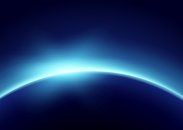 Earth with blue light Free Vector