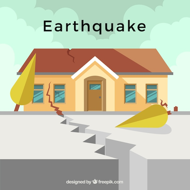 Earthquake design Free Vector