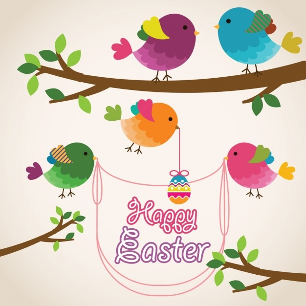 Easter background design Vector Free Download