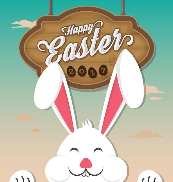 Easter background design Free Vector
