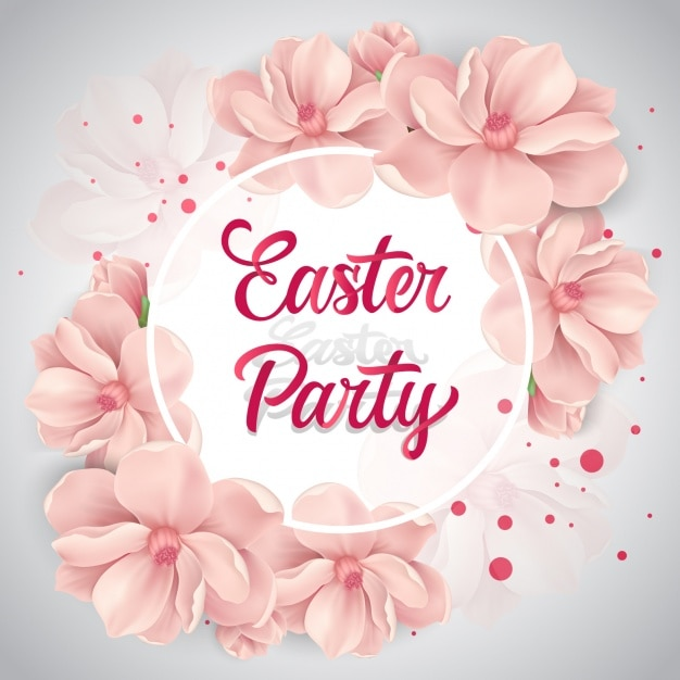 Easter background design Free Vector