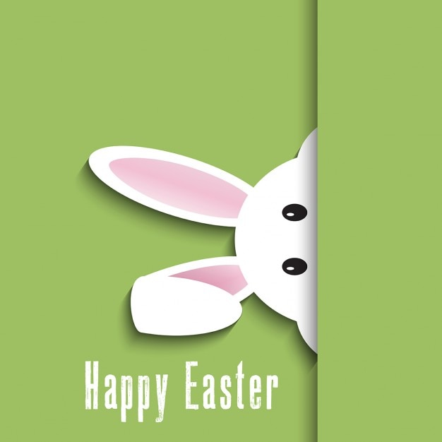 Easter background with cute bunny design Free Vector
