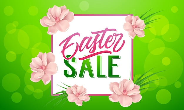 Easter banner design Free Vector