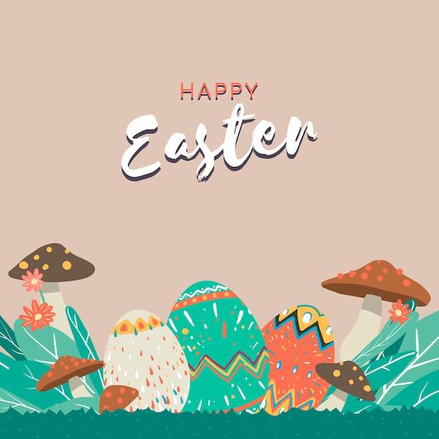 Easter border illustration Free Vector
