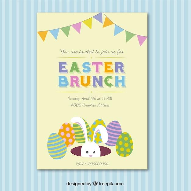 Easter brunch invitation card Vector – Easter Invitation Cards
