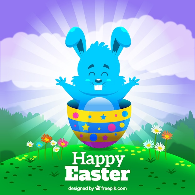 Easter Bunny Colorful Background
