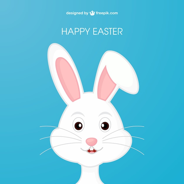 Easter bunny in cartoon style