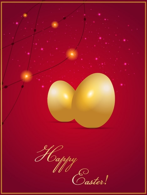 Easter card design Free Vector