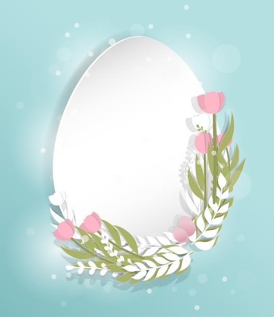 Easter card egg shape template Vector Premium Download