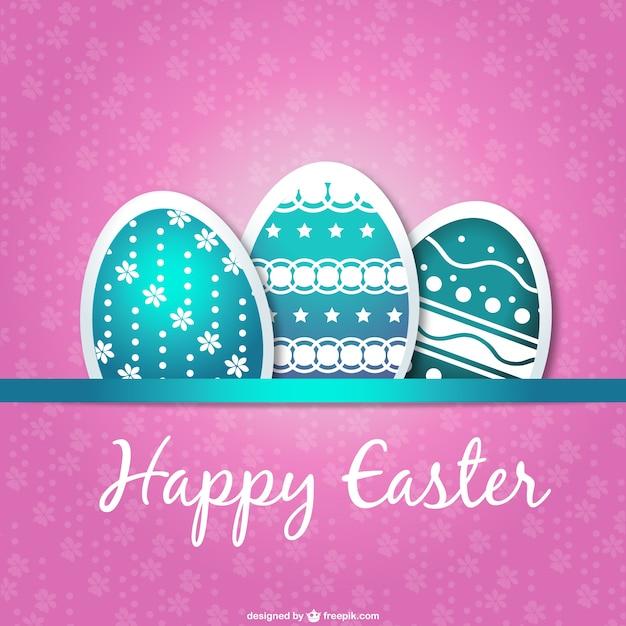 Easter card eggs design Vector – Easter Card Designs