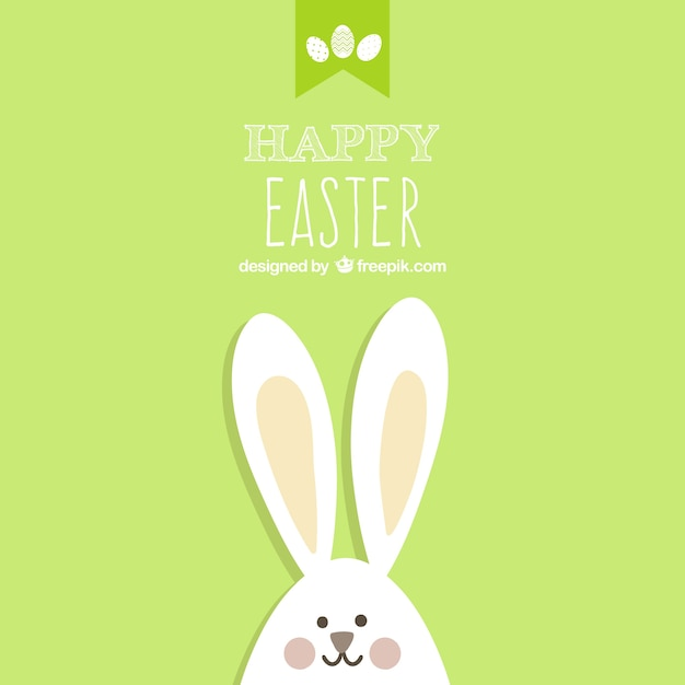 Easter card with bunny Vector – Easter Card