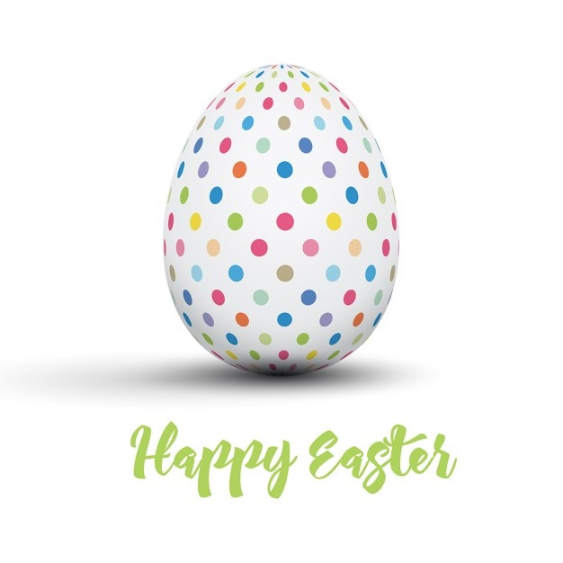 Easter card with dotted egg Vector – Easter Card