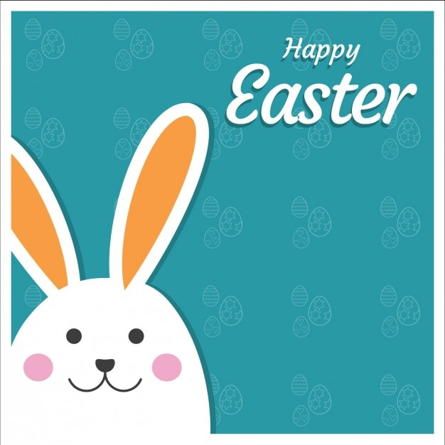 Easter card with peeping out bunny Vector – Easter Card