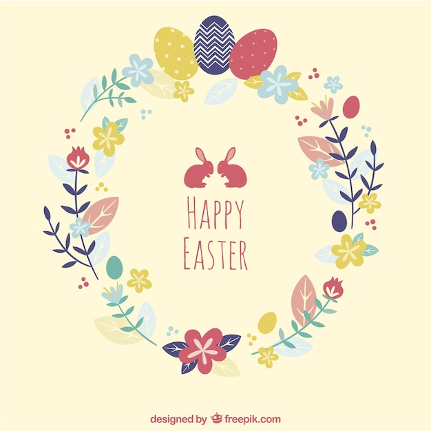 Easter card Free Vector