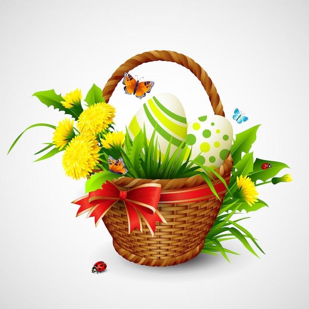 Easter card Premium Vector