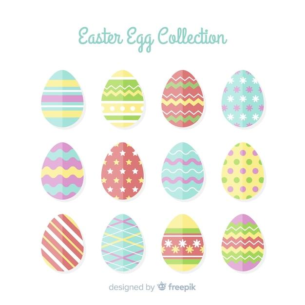 292af938c76 Easter day egg collection Free Vector